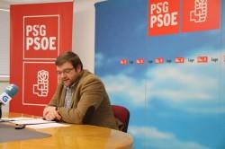 """Rolda de prensa de Álvaro Santos, na que demostrou """"o sectarismo político"""" aplicado pola Xunta nos Concellos do PSOE cos obradoiros de emprego"""