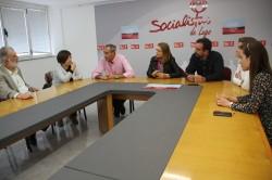 Reunión dos socialistas coas plataformas sanitarias