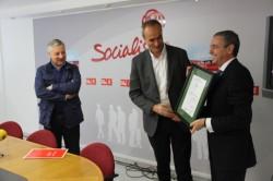 A sede do PSOE de Lugo acada por terceiro ano consecutivo a certificación medioambiental ISO 14001 e convértese na primeira en toda Europa en acadar este distintivo